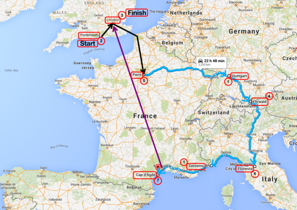 Our Route Map